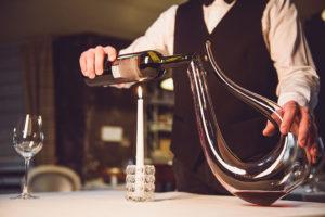 Wijn decanteren